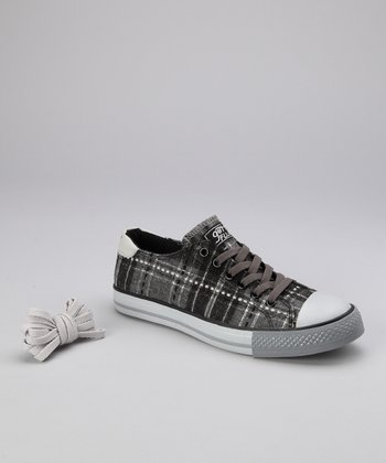 Dark Gray Twist Me Lilly Sneaker - Women