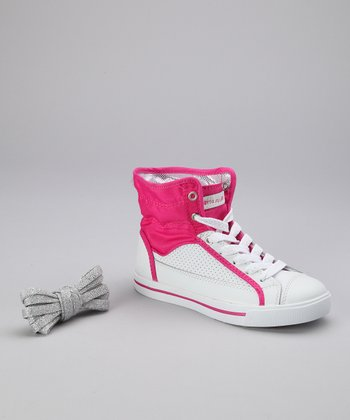 Hot Pink Valley Hi-Top Sneaker - Kids