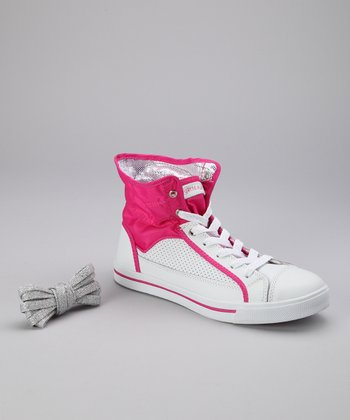 Hot Pink Valley Hi-Top Sneaker - Women