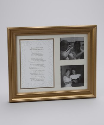 Gold 'Friend' Frame