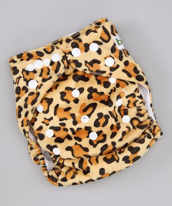 Leopard Minky Pocket Diaper