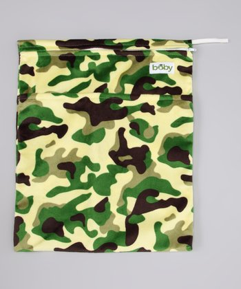 Green & Brown Camouflage Minky Wet Bag