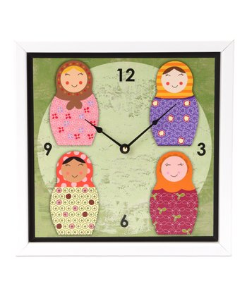 Nested Dolls Art Clock