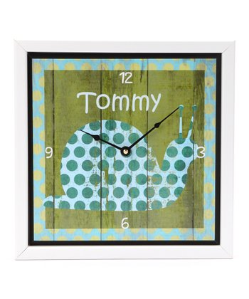Baby Snail Personalized Art Clock
