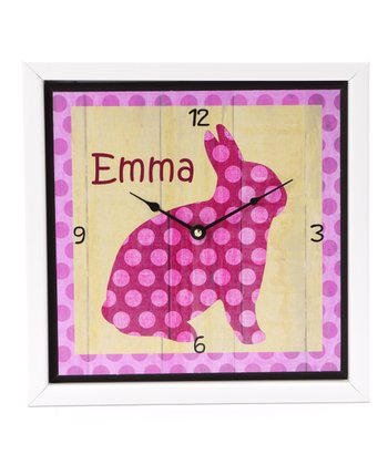 Bunny Personalized Art Clock