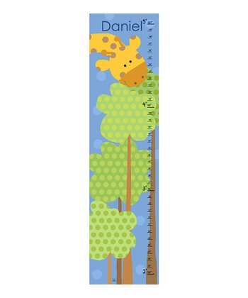 Giraffe & Tree Personalized Growth Chart
