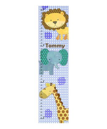 Baby Jungle Animal Personalized Growth Chart