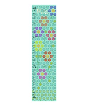 Green Floral Personalized Growth Chart
