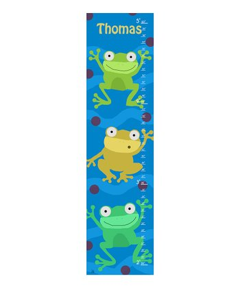 Green Frog Personalized Growth Chart