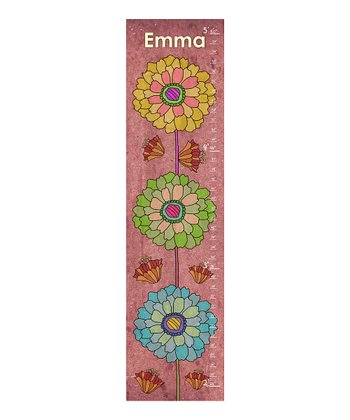 Stacked Flower Personalized Growth Chart