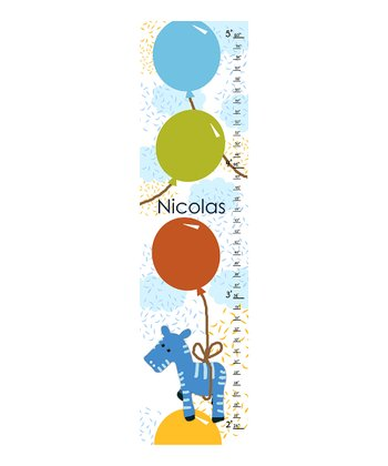 Blue Zebra Personalized Growth Chart