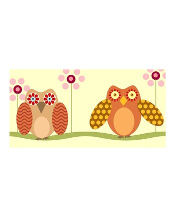 Brown Little Owls Canvas Giclée Print
