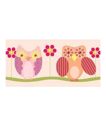 Purple Little Owls Canvas Giclée Print