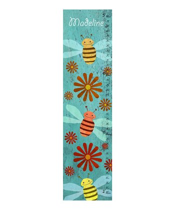 Blue Bee Personalized Growth Chart