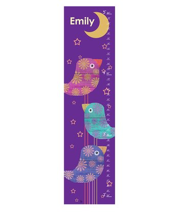 Bird & Moon Personalized Growth Chart