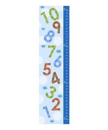 Blue Numbers Growth Chart