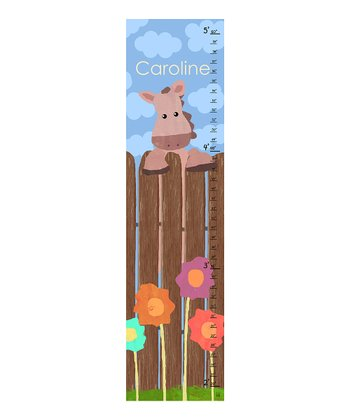 Horse & Fence Personalized Growth Chart