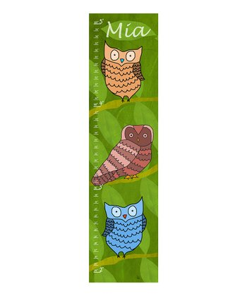 Owl Personalized Growth Chart