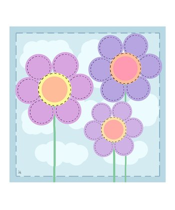 Blue Baby's Flowers Canvas