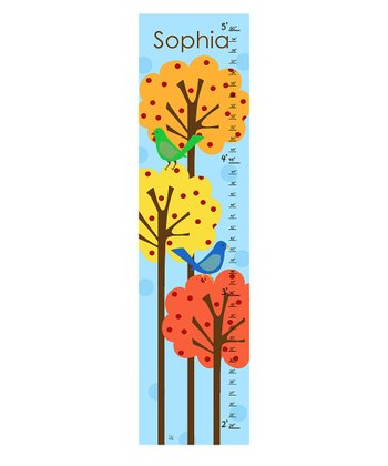 Bird & Tree Personalized Growth Chart