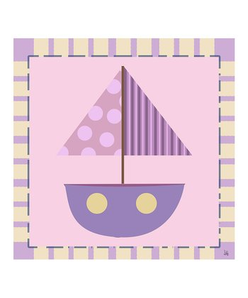 Purple Baby Boat Canvas