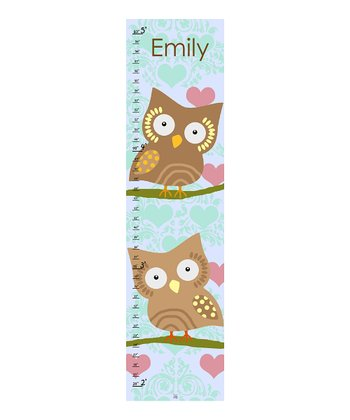 Owl & Heart Personalized Growth Chart