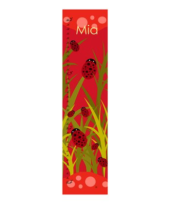 Ladybug Personalized Growth Chart