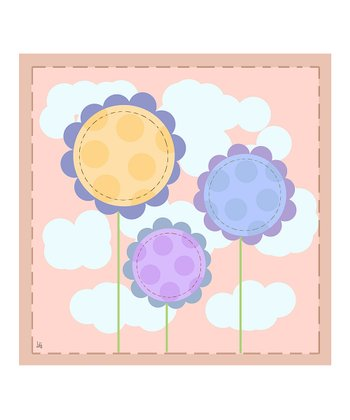 Peach Baby's Flowers Canvas