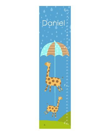 Rainy Day Personalized Growth Chart