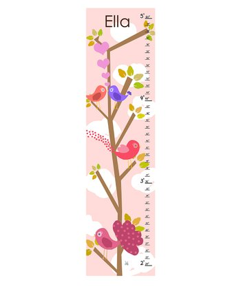 Love Birds Personalized Growth Chart