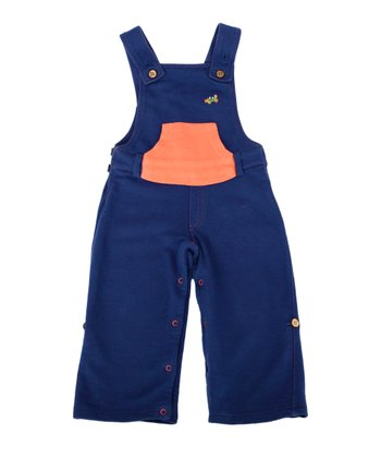 Green Nippers Navy Organic Overalls - Infant & Toddler