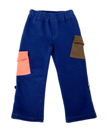 Green Nippers Navy Organic Pocket Pants - Infant, Toddler & Kids