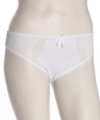 White Mesh Plus-Size Maternity Thong