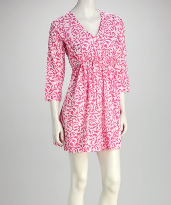 Pink Tulip Vine Dress
