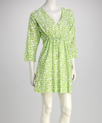 Kelly Green Tulip Vine Dress