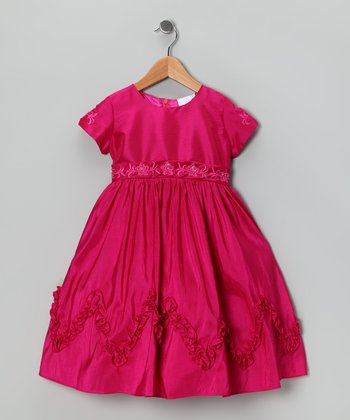 Fuchsia Ruffle Dress - Toddler & Girls