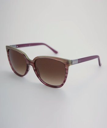 Gray & Violet 'Gucci' Sunglasses
