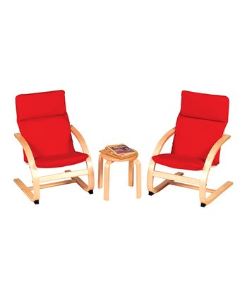Red Rocker Table & Chair Set