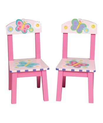 Pink Butterfly Chair - Set of Two
