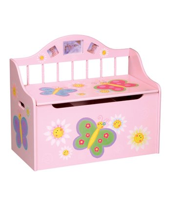 Pink Butterfly Toy Box