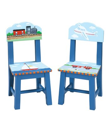Blue Transportation Chair - Set of Two