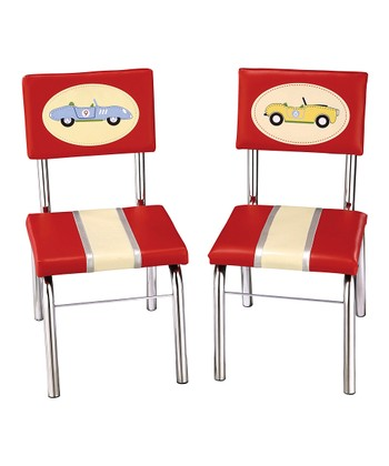 Retro Racer Chair - Set of Two