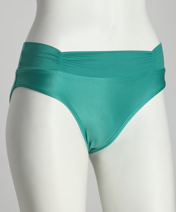 Green Pacific Fold-Over Bikini Bottoms