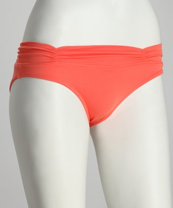 Delight Coral Fold-Over Bikini Bottoms
