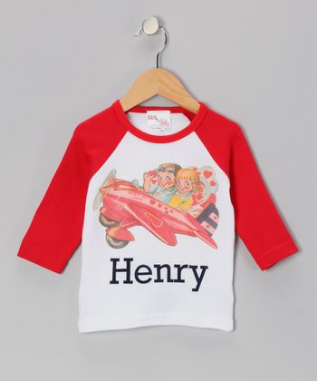 Red Airplane Personalized Tee - Infant, Toddler & Boys
