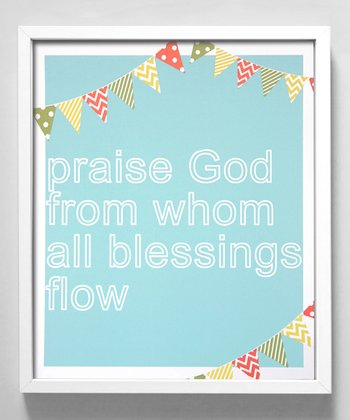 Blue 'Blessings' Print