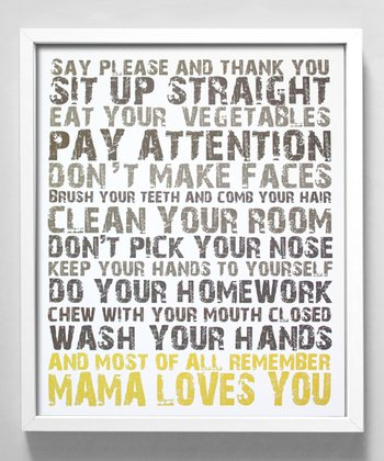 Yellow 'Mama Loves You' Print