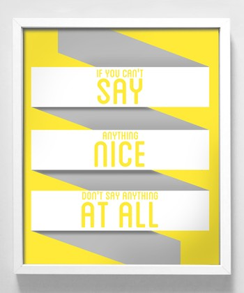 'Say Anything' Print
