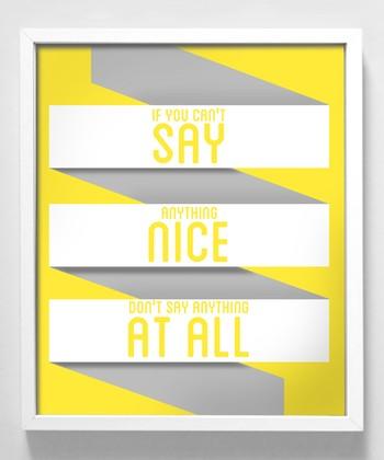 'Say Anything' Print
