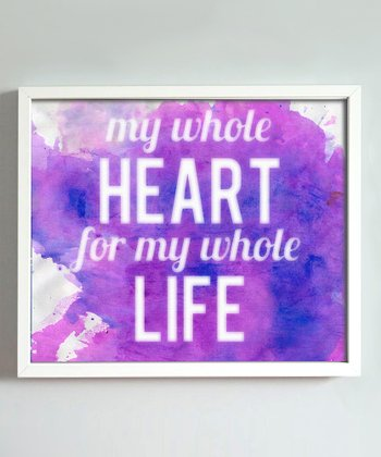 Purple 'Whole Heart' Print